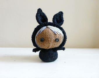 Cute Stuffed Animal, Baby Doll, Small Stuffed Animal, Ready to Ship - Mini Bunny Baby Petra