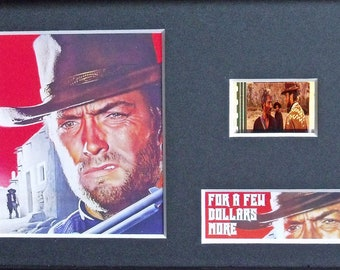 For a Few Dollars More Clint Eastwood Lee Van Cleef Unframed 35mm Film Cells Version 2 New
