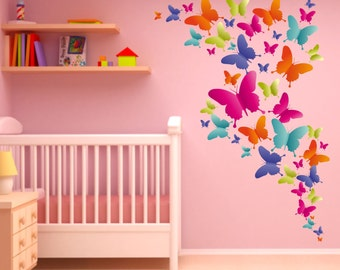 004 Wall Decals Colorful butterflies * Nikima * in 6 verse. Sizes