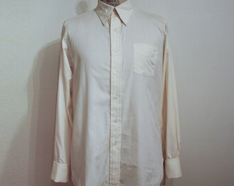 Off White Shirt by Embassy for PIncus, San Antonio, for Cuff links
