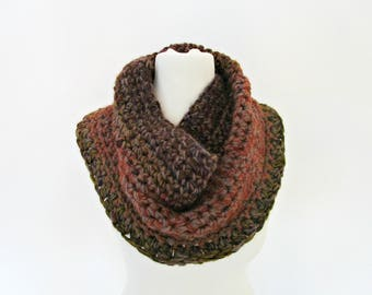 Unique gifts travel-gift Crocheted scarves Brown rustic scarf Brown scarf Caramel scarf Bulky crochet scarf Rusty scarf Bronze scarf