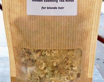 Golden Soothing Hair Tea Rinse... Natural, Herbal Hair Treatment for Blonde Hair