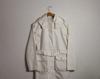 trench coat women Graphite RAW Ivory Jacket Coat Women Large Size