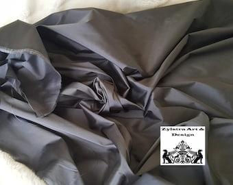 DARK GRAY SILK fabric, by the yard, , taffeta silk, upholstery, fashion, interior decor, upholstery, steel, graphite, pewter, slate