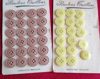 vintage yellow and Brown suit buttons