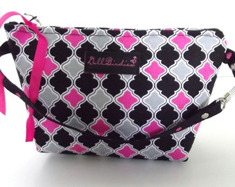 Dollbirdies Grab and Go Wristlet, Cosmetic Bag, Mini Purse, Zipper Pouch, Knitting Notions, Jewerly Pouch