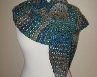 Handmade crochet wrap, crochet shawl, crochet stole, neckwarmer, crocheted accessory
