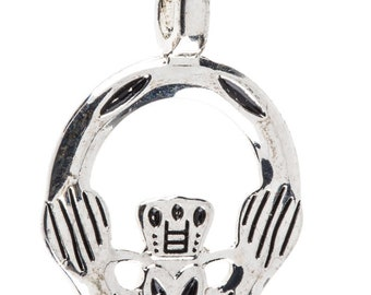 Silver Claddagh Charm Jewelry Making Supplies