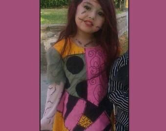 Womens Sally Stitches Nightmare Before Christmas Halloween Costume Dress Custom Made