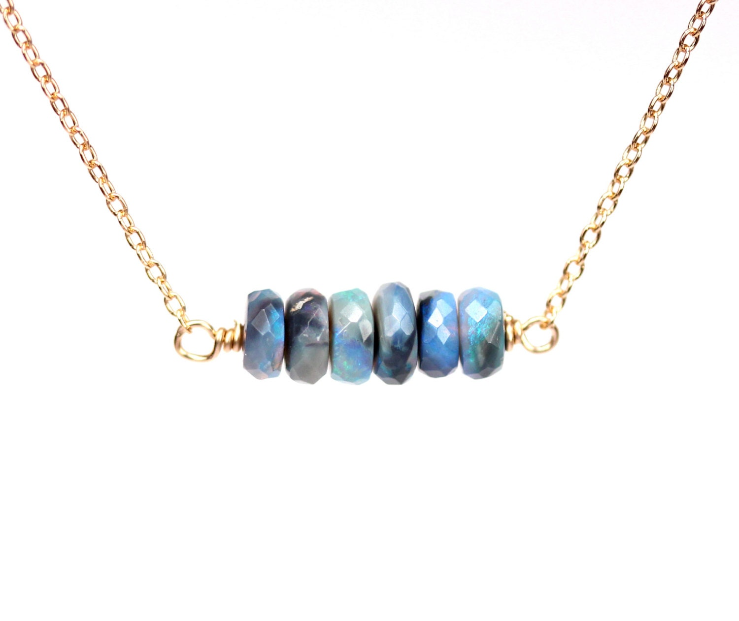 opal rare necklace product designs black jewelry