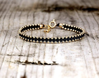 Gold Beaded Bracelets, String Bracelets, Stack Bracelets, Bracelets Handmade, Gift for her, bracelet in gold,bracelets to wear with watch