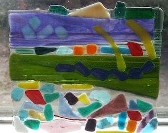 Mosaic Abstract Glass Art
