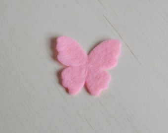 Butterfly in felt to repair the garment, scrapbooking, customization and personalization 2.6 cm * 2.6 cm