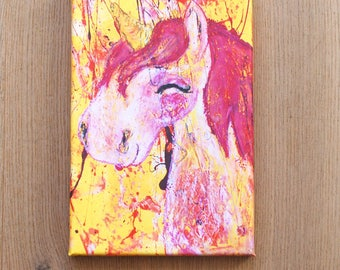 Unicorn Elsa Print on canvas