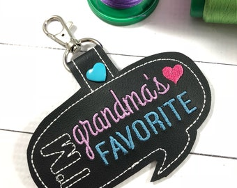 Grandmas favorite keyring tag - novelty backpacktag  -best gifts for her- gifts under 10- gifts for grandchildren