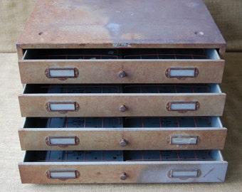 Vintage Jack Coffey Film Cabinet, Storage Cabinet, Craft Cabinet, Art Supply Cabinet