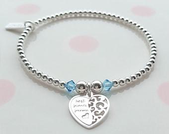 Best Friend Bracelet, Sterling Silver Best Friend Bracelet, Silver Best Friend Bracelet, Best Friend Bracelet, BFF Gift, Best Friend Forever