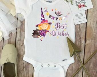 Halloween Onesie®, Best Witches, Halloween Baby, First Halloween, Little Witch, 1st Halloween, Baby Shower Gift, Newborn Gift,Halloween Baby