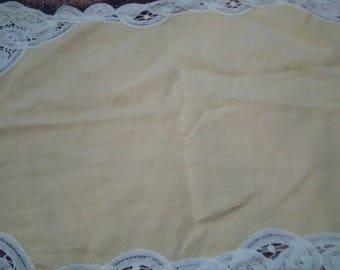 Vintage Yellow Doily