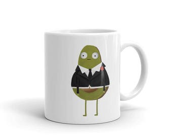 Double 0 Guacardo Mug, Spy Mug, Avocado Mug, Movie Mug.