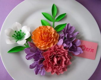 Cherie - Set of 50 - Place Setting - Plate Decoration - Table Decoration - Placement Card - Place Card - Cherie Collection
