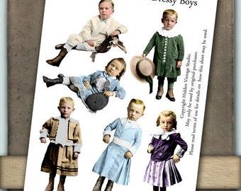 Dressy Boys Digital Collage Sheet