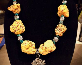 22in Yellow Magnesite Necklace