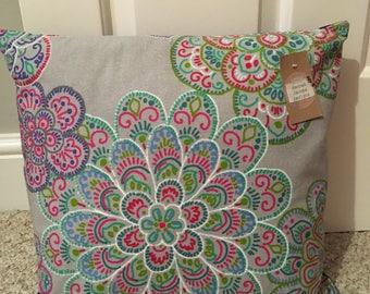 Flower printed cushion