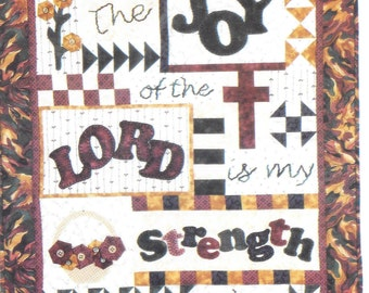 """Bright Ideas Design Co. - Vintage - The Joy of the Lord is my Strength -  Kathleen Parman designer - 23"""" x 27"""" - New/unused"""