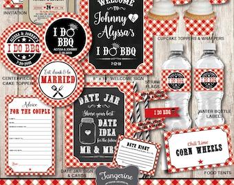 I Do BBQ Decorations, I Do BBQ Couples Shower, Engagement Party, Wedding Shower, I do bbq decor, Printable, pdf files, Personalized