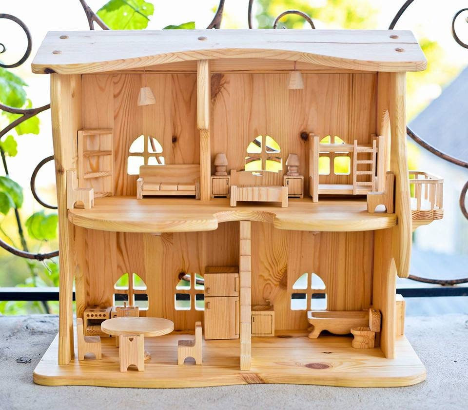 Wooden Dollhouse Lighting Dollhouse Kit Without Furniture