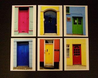 Set of 8 cards Doors of Dingle Bay, Ireland