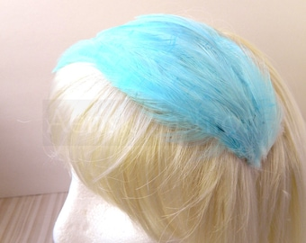 Baby Blue feather fascinator blank Base (5 fastener option) Derby feather cap for mardi gras, kentucky derby, bridesmaid,or tea party