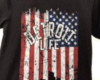 Detroit Life USA T Shirt