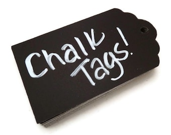 Chalkboard Tags - 20 Count -  Blackboard Tag - Chalk Tags - Wedding Favor Tag - Baby Shower Tags - Gift Tag - Hang Tag -  3 x 1.75 in