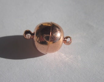 large magnetic clasp copper metal light 10 x 15 mm (2082)