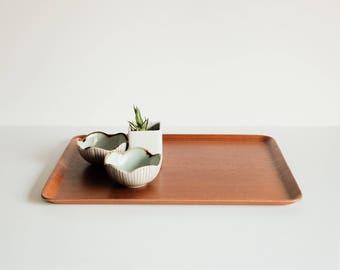 Scandinavian Modern Teak Tray - Stamped Made in Sweden