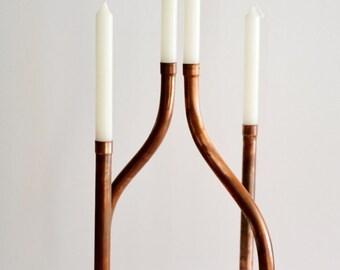 Copper mod chandelier. Patricia