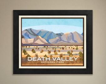 Death Valley Framed National Park Print