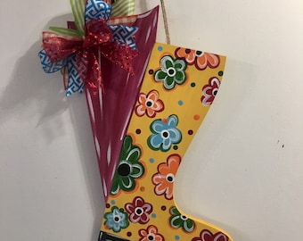 Umbrella and Rain boot Door Hanger