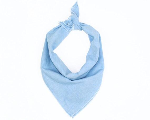 Light Blue Chambray Bandana