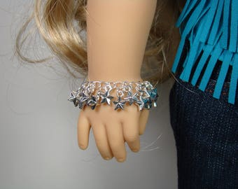 "Charm Bracelet for 18"" Play Dolls such as American Girl® Tenney"