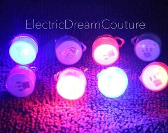 LED Earrings, Glow Earrings, Clip On light up earrings, for Raves, music festivals, EDC, Ultra, Clubbing, Parties.