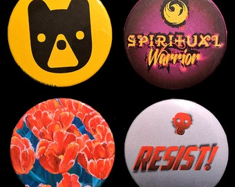 """Mix-and-match any ten  2 1/4"""" (2.25"""") pinback buttons or magnets"""