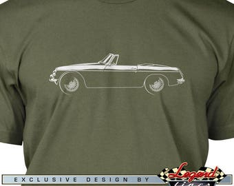 MG MGB Convertible T-Shirt for Men - Lights of Art, Multiple colors available, Size: S - 3XL, Great British Classic Car Gift by Legend Lines