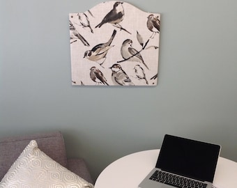 Natural Bird Pinboard Limited Edition Fabric - Two Sizes!