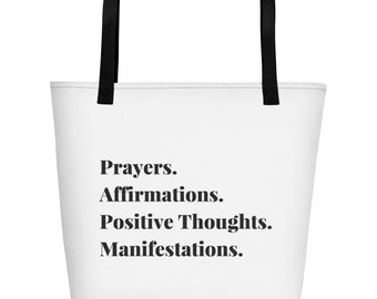 Prayers & Affirmations Beach Bag
