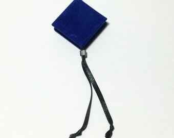Blue Zentangle  Mini Book Pendant Necklace