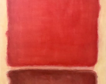 Hand Painted Mark Rothko Inspired Four Reds Painting Reproduction On Canvas