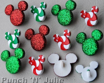 HOLIDAY CANDIES - Disney Christmas Mickey Mouse Sweets Dress It Up Craft Buttons